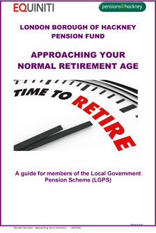 Icon for Approaching Your Normal Retirement Age document