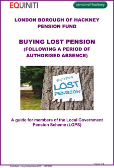 Icon for Buying Lost Pension (following a period of authorised absence) document