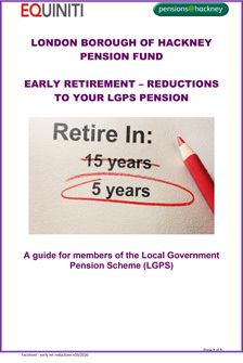 Icon for Early Retirement - Reductions to your LGPS Pension document