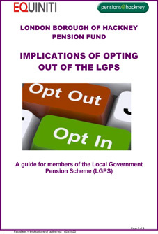 Icon for Implications of opting out of the LGPS document