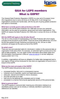 Icon for LBHPF - GDPR FAQs for LGPS members document