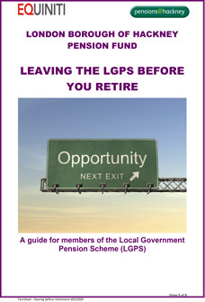 Icon for Leaving the LGPS before retiring document