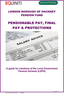 Icon for Pensionable Pay Final Pay and Protections document