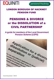 Icon for Pensions on Divorce or Dissolution of a Civil Partnership document