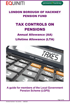 Icon for Tax controls on pensions document