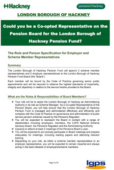 Icon for Pensions Board - Roles & Responsibilities of Pension Board Co-opted Representatives document
