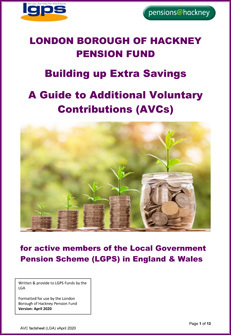 Icon for Building up Extra Savings - A Guide to Additional Voluntary Contributions (AVCs) document